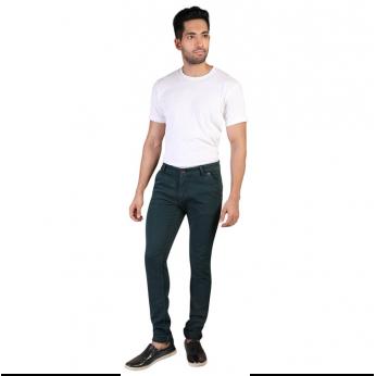 Denim Vistara Men's Green Slim Fit Nero Jeans
