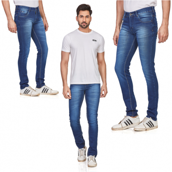 Denim Vistara Men's Casual Classic Blue Jeans