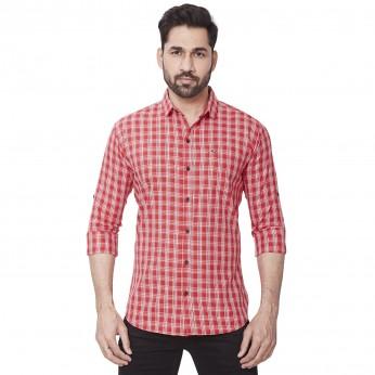Kaprido Men's Cotton checks Shirt