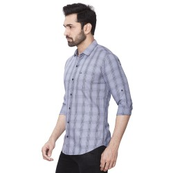 Kaprido Men's Soft Smart Checks Shirt