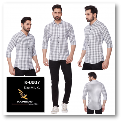 Kaprido Soft Smart Checks Mens Shirt