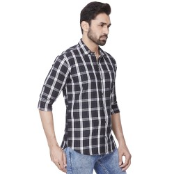Checks Kaprido Men Cotton Shirt