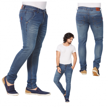 Denim Vistara Men's Blue Comfort Fit Jeans