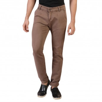 Denim Vistara Men's Brown Slim Fit Jeans Trouser