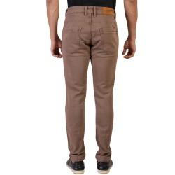 Denim Vistara Men's Brown Slim Fit Jeans Trouser