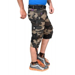 Men's Cotton Army 3/4th Shorts