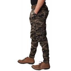 Army Print Dori Style Relaxed Fit Zipper Cargo Pants DV-J001