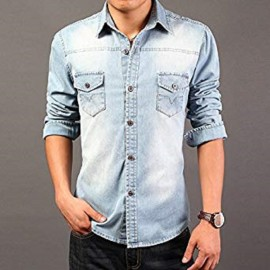 Royal Spider - Full Sleeves Denim Shirt For Men's