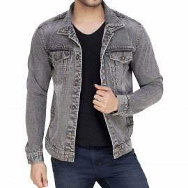 Royal Spider Men's Full Sleeves Denim Jacket