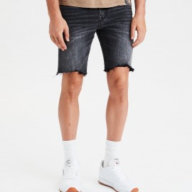 Royal Spider - Denim Black Shorts For Man