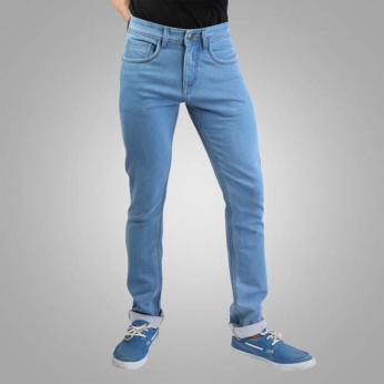 Denim Vistara Men's Slim Fit Sky Blue Colored Jeans
