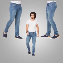Denim Vistara Men's Blue Slim Fit Jeans latest fit