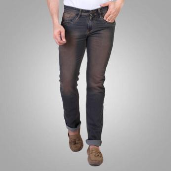 Denim Vistara Men's Black Slim Fit Jeans