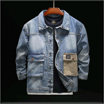 Royal Spider Sky Blue Denim Jacket For men