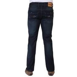 Denim Vistara Men's Green DX Slim Fit Ankle Length Torn Jeans