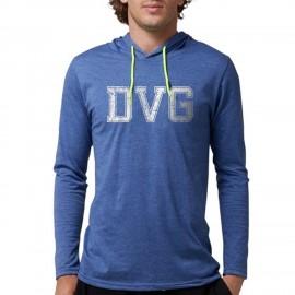 DVG - Men's Blue hooded t-shirts