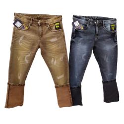 Men's Regular Damage Jeans 2 colours Set.