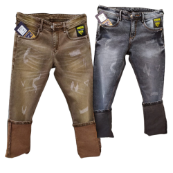 Men's Regular Damage Jeans 2 colours Set