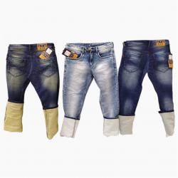 Royal Spider - Regular Damage Jeans 3 colours Set.