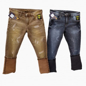 Men's Regular Damage Jeans 2 colours Set.