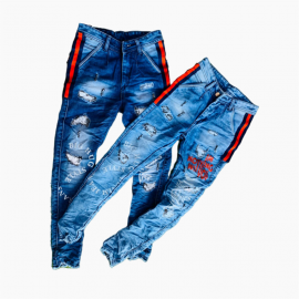 Wholesale - Funky Printed Jeans For Men's