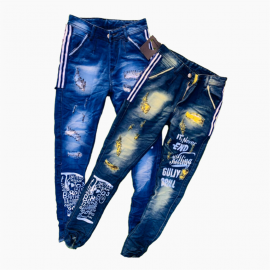 DVG - Wholesale Men's Printed Funky Jeans