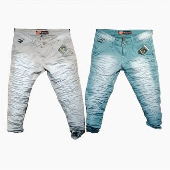 Men's Denim Jeans 2 Dusty Colours Set. WJ-1007
