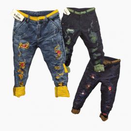 Wholesale - Funky Colour Damage Jeans