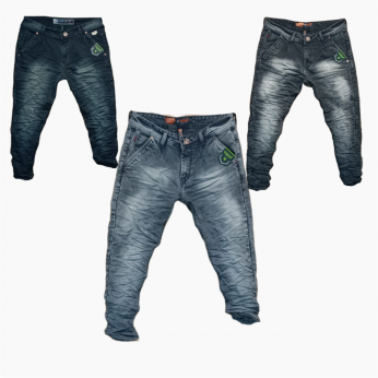 Wholesale - Men's Wrinkle Denim Jeans WJ-1017