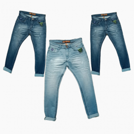 Wholesale - Men's Stylish Wrinkle Denim Jeans