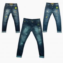 Wholesale - Men's Stylish Wrinkle Denim Jeans