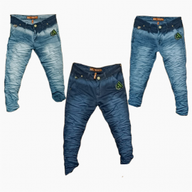 Wholesale - Wrinkle Denim Jeans For Men's