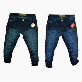 Wholesale Men's Denim Wrinkle Jeans