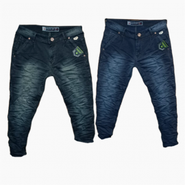 Wholesale Men's Wrinkle Denim Jeans