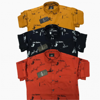 Wholesale - Kaprido Mens Cotton Printed Shirt K-0017
