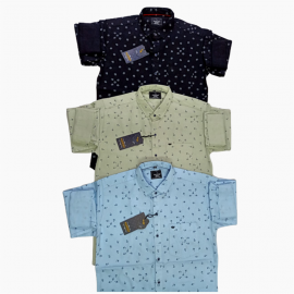 Wholesale - Kaprido Cotton Printed Mens Shirts K-0027