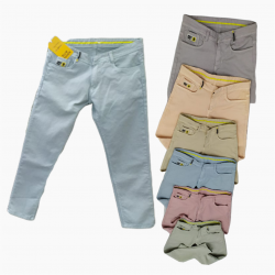 Wholesale Men's Denim Jeans 6 Dusty Colours Set GTU-0004