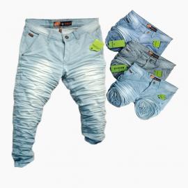 Wholesale - Men's Stylish Knitted Denim Jeans