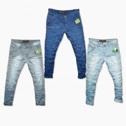 Wholesale - Wrinkle Denim Jeans For Men's