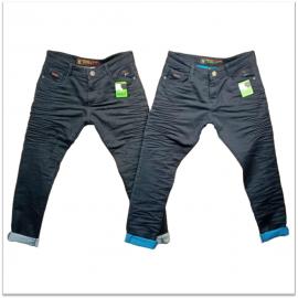 Wholesale Grey & Black Regular Fit Men's Jeans