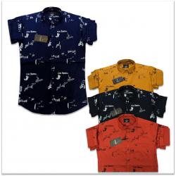 Wholesale - Kaprido Mens Cotton Printed Shirt K-0017