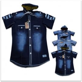 DVG - 3 Colour Funky Denim Shirts For Men's