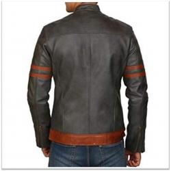 Royal Spider - Men Grey Black Pure Leather Jacket