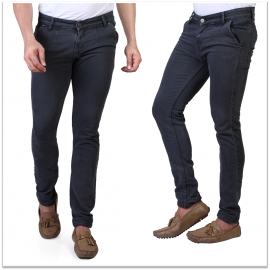 Sale Denim Vistara Men's Grey Slim Fit Jeans