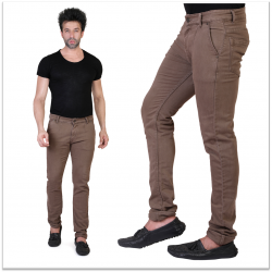 Sale Denim Vistara Men's Brown Slim Fit Jeans