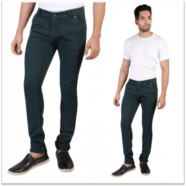 Denim Vistara Men's Green Slim Fit Nero Jeans