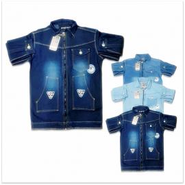 DVG - Fashion Ripped Short Denim Jacket