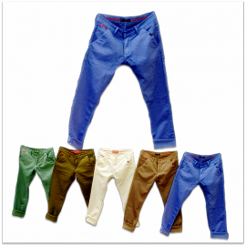 Wholesale - 5 Dusty Colours Men's Jeans