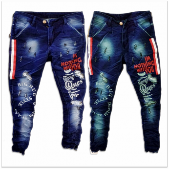 DVG - Printed Funky Jeans For Men