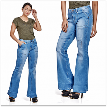 Royal Spider - Bell Bottom Bootcut Jeans For Women